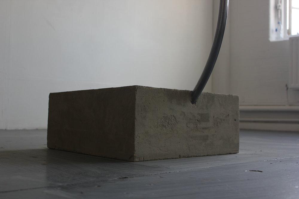 """Boing"" 2017 - Concrete, Steel & Oil on Linen - Detail"