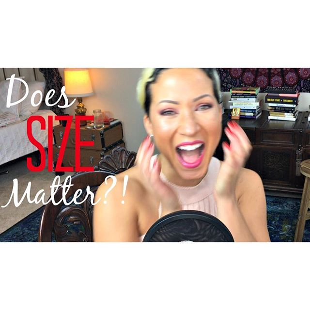 New video up on the YouTube channel!! Check it out! Does size matter?! This question has a surprising response!! Gogogogo! Link in bio! ✨✨✨💗💗💗 #magicsexandcoffee