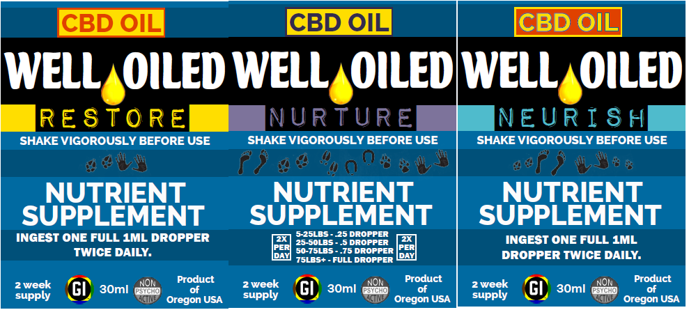 RESTORE AND NURTURE AND NEURISH CBD OIL TRIPLE COMBO PACK