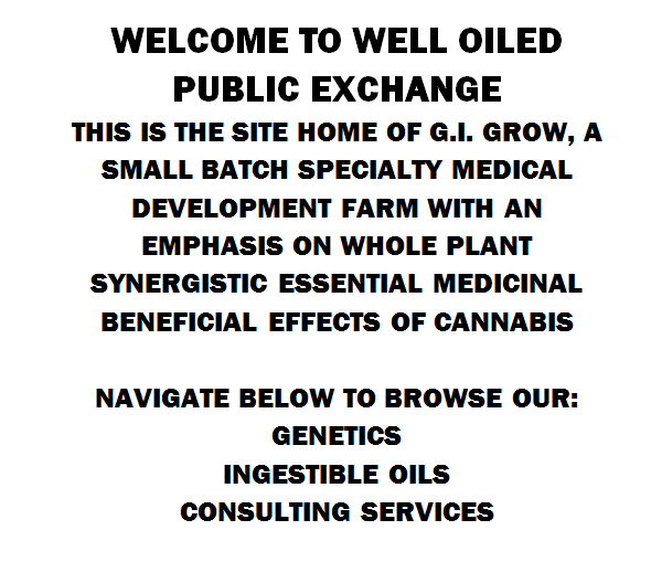 WELCOME TO WELL OILED PUBLIC EXCHANGE