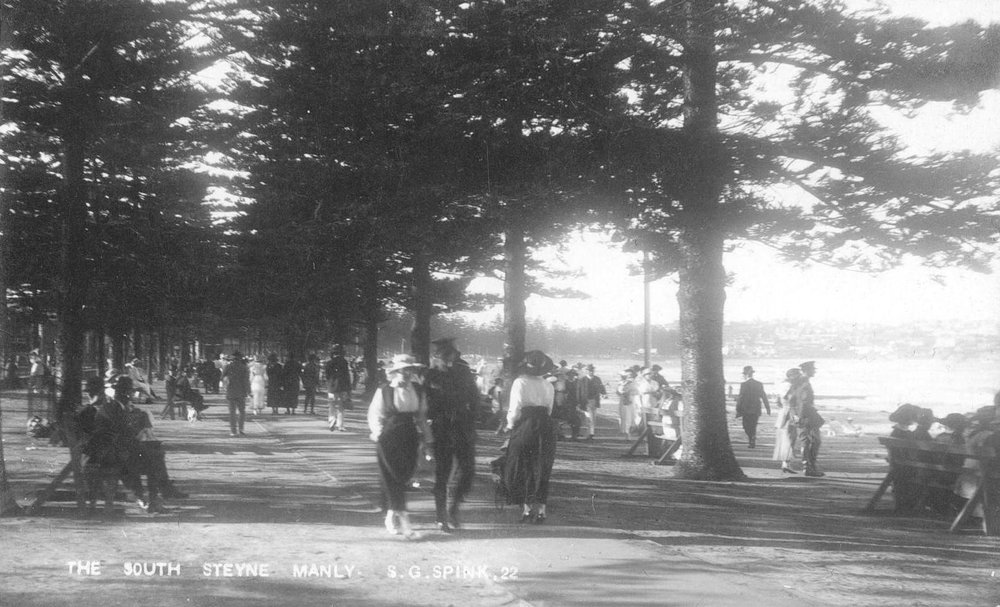 South Steyne Reserve 1920s, Spink pc.jpg
