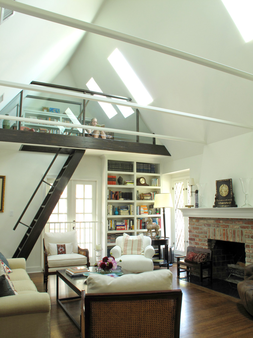 LA Tudor Living Room and Loft