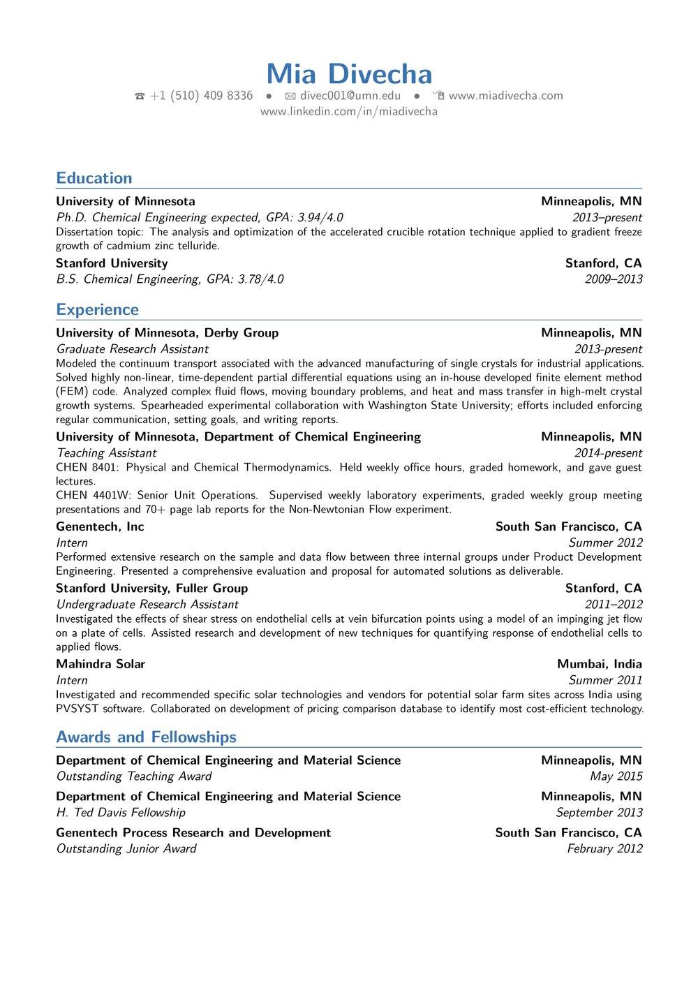 CV tips for graduates