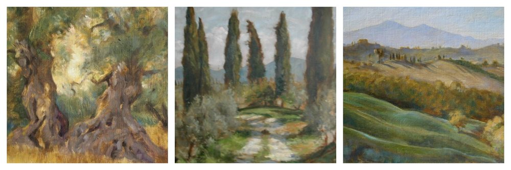 Tuscan landscapes by Julia Ingersoll