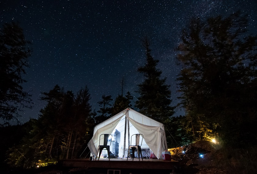 Glamping under the Milky Way