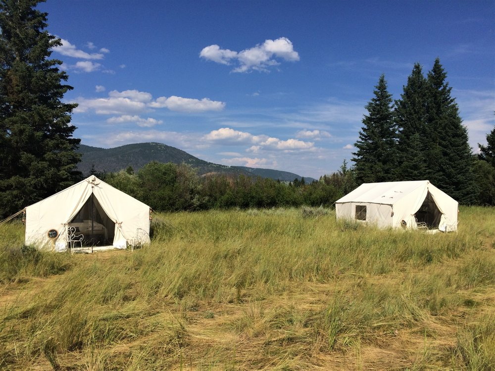Terra Glamping Wedding near Yellowstone- Montana Camp