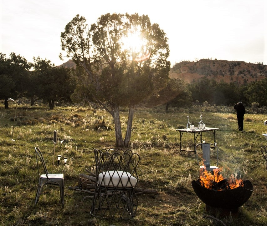 Terra Glamping Wedding- Morning Campfire