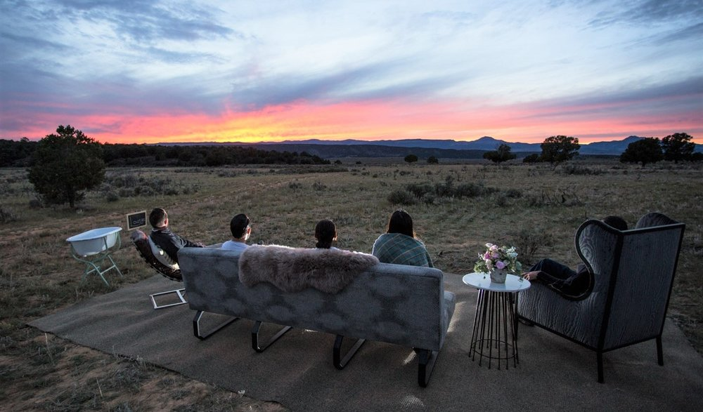 Outdoor lounge-  enjoy the sun set with friends on a plush sofa and chairs