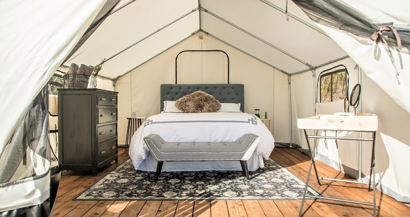 Terra Glamping Tent Interior - Kristen Kellogg