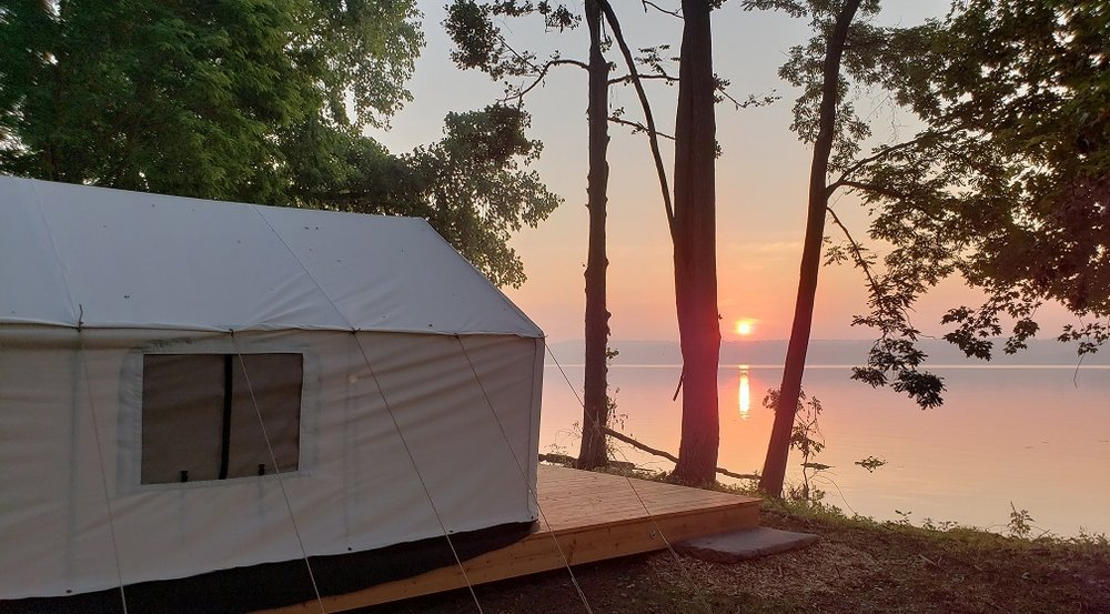 Terra Glamping - Hutton Brickyards sunrise