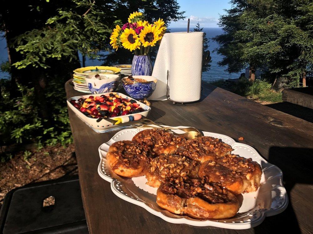Terra Glamping breakfast