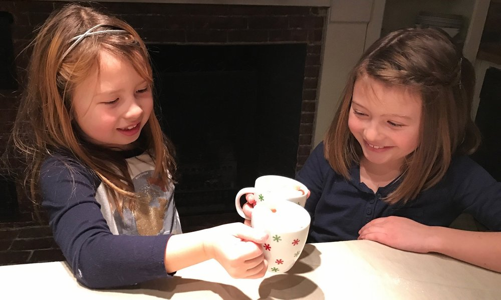 Hot cocoa with friends after a fun day outside?  Yes, please!