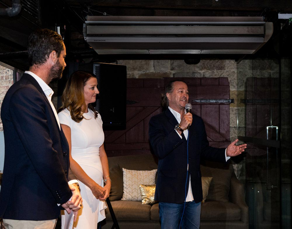 Left to right: Blake Hutchison (General Manager, Luxury Escapes), Belinda Mason (Head of Coalition Partnerships, Qantas) and Neil Perry (Celebrity Chef)