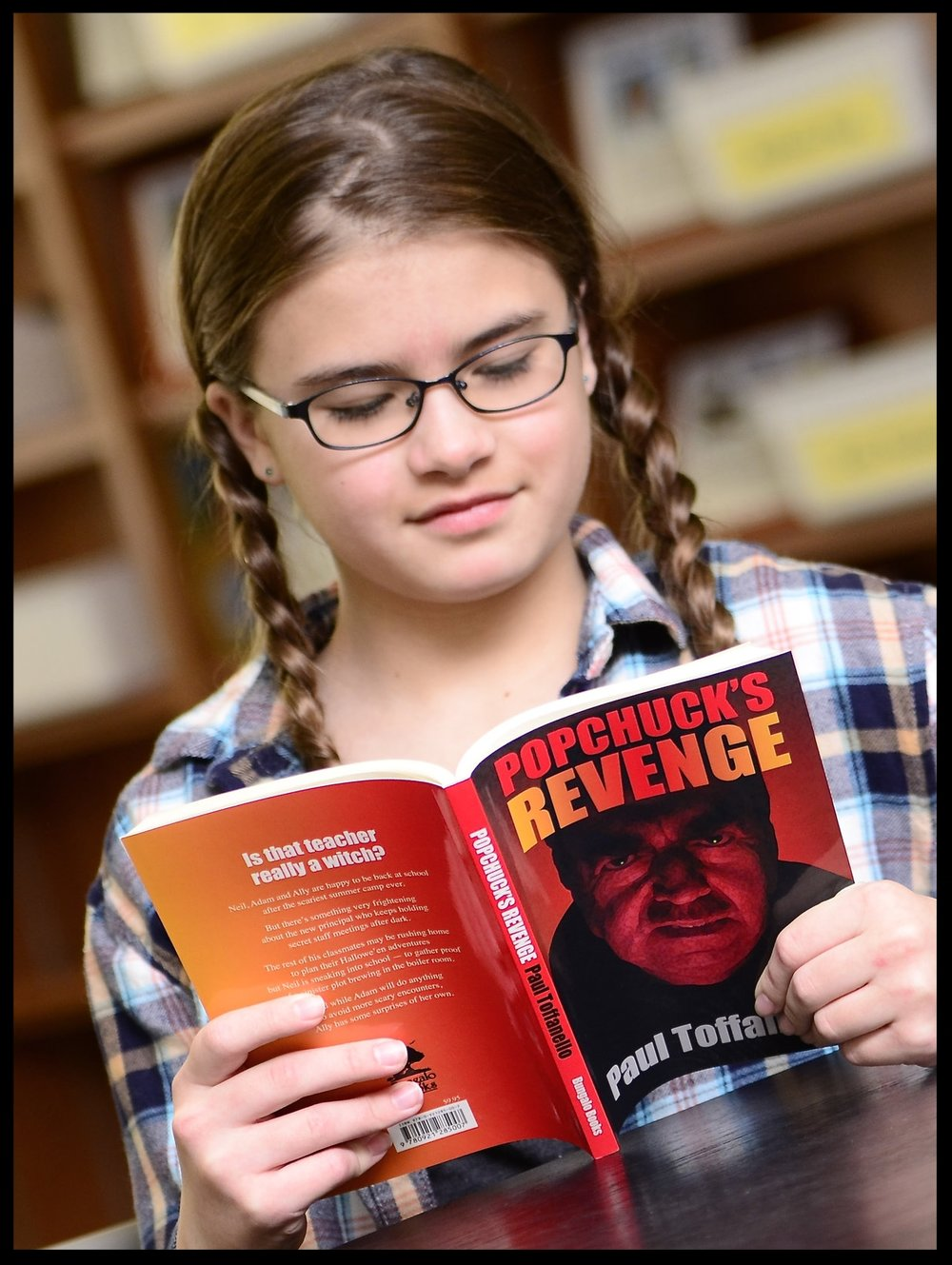 Book 2: Popchuck's Revenge - Neil, Ally and Adam are happy to be back to school after the scariest summer camp ever! But there's something very frightening about the principal and some of the teachers who keeps holding secret staff meetings after dark. The rest of their classmates may be rushing home to plan their Halloween adventures, but Neil and his friends sneak into school to gather proof of a sinister plot brewing in the boiler room!