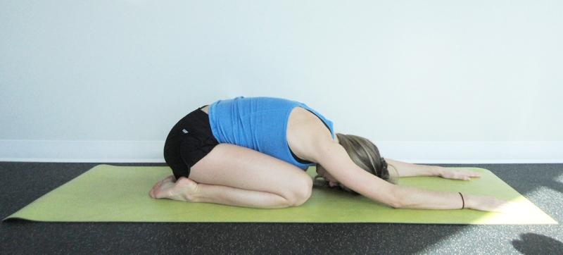 Child Pose Yoga Digestion