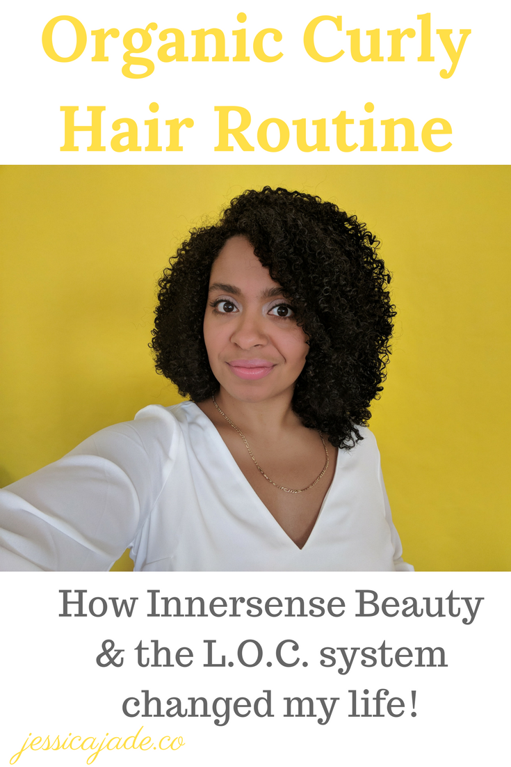 Organic Curly Hair Routine: Innersense & LOC System