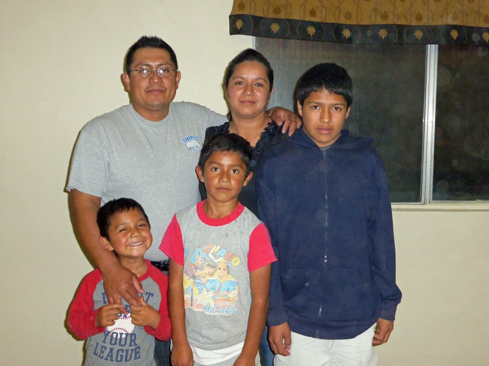 Pastor Francisco, Maria & boys - el Papalote - February 2014