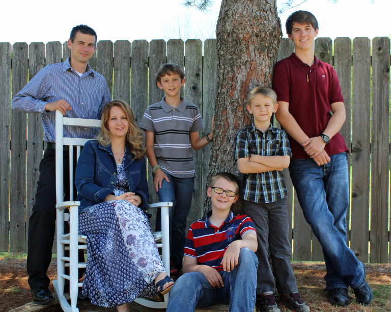 Stephen, Ester & boys - April 2014