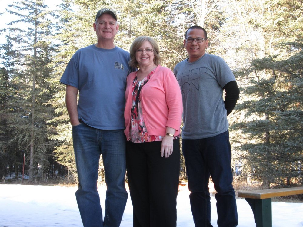 Erwin with Pastor John & Renee - March 2014