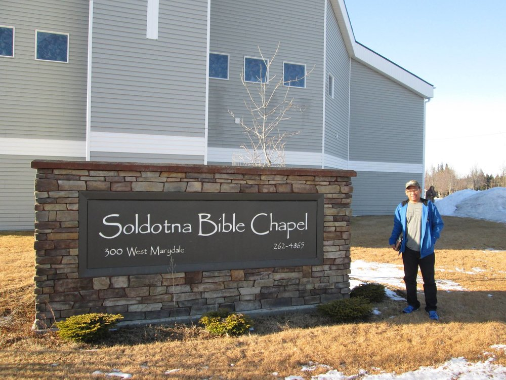 Erwin visiting Soldotna Bible Chapel - March 2014