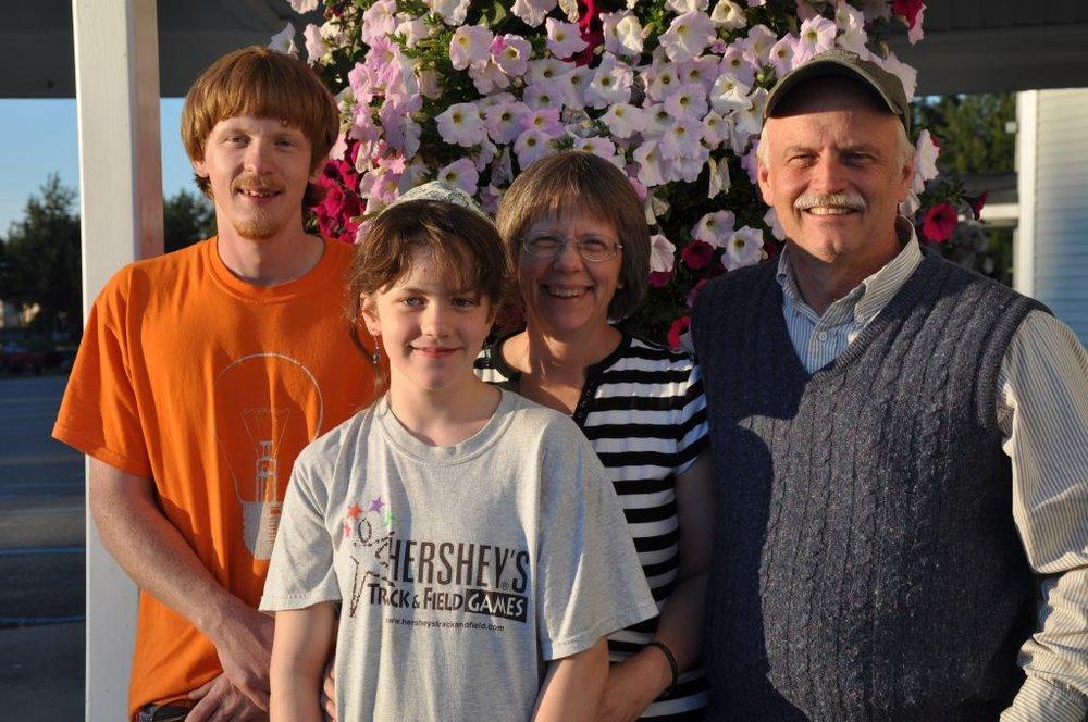 Bob, Joyce John and Faith at SBC - Aug 2011