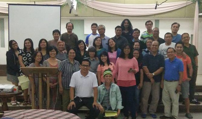 Erwin with his church family - Feb 2017