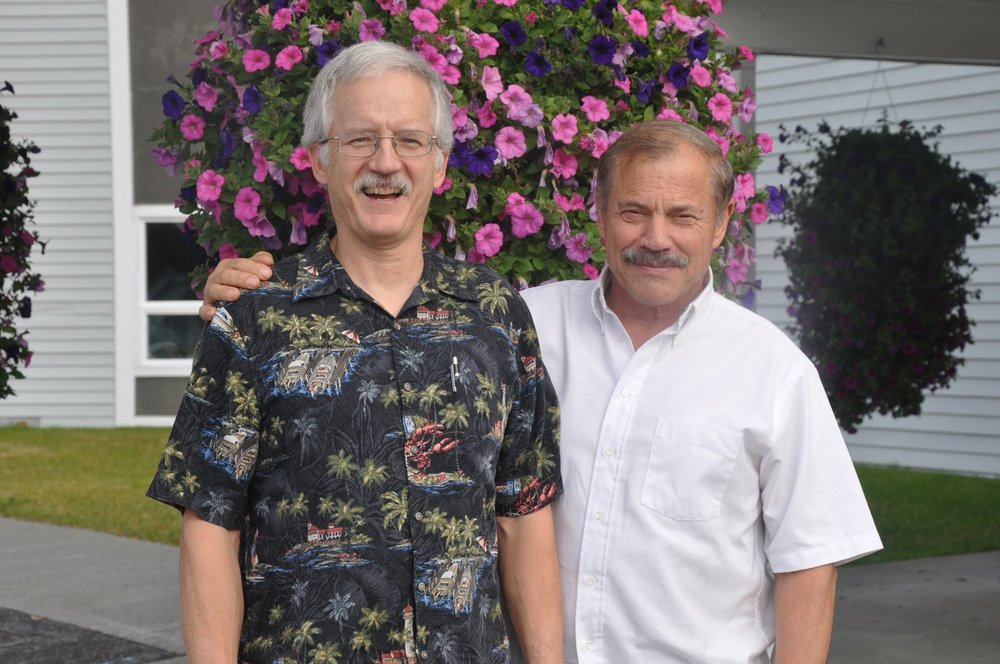 Mike at Soldotna Bible Chapel with Steve Beeson (Mission chair) - Oct 2015
