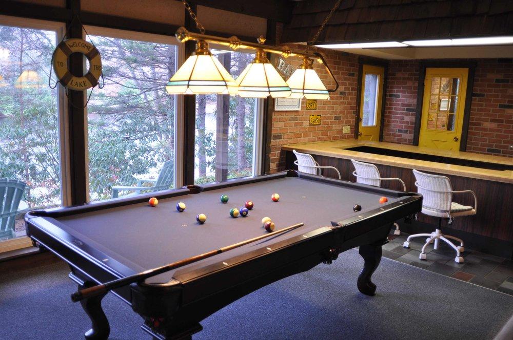 Pool Table and Original Sunken Bar.