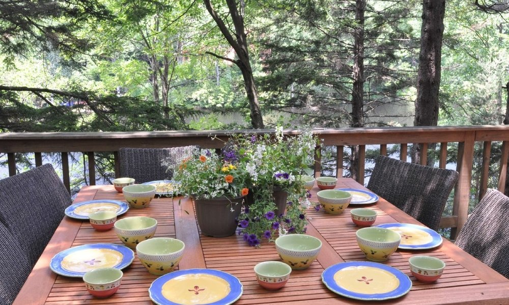 Dining on the Deck.