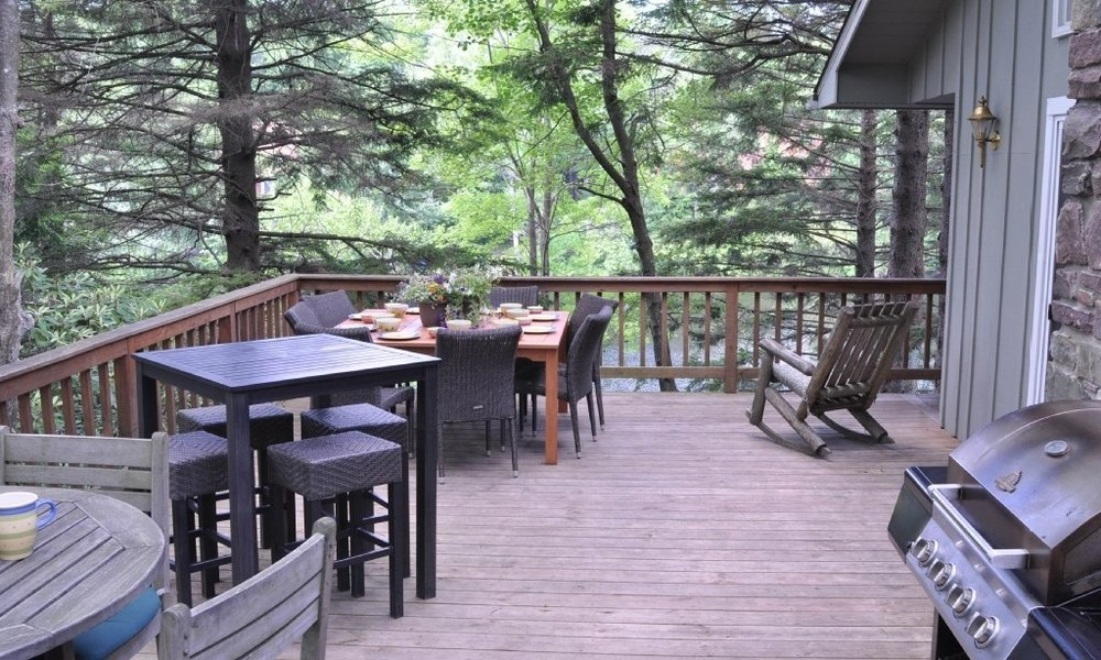 The Deck with Propane Grill.