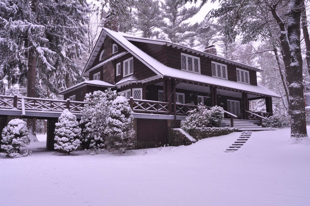 The Ingleside Cottage after a fresh snowfall