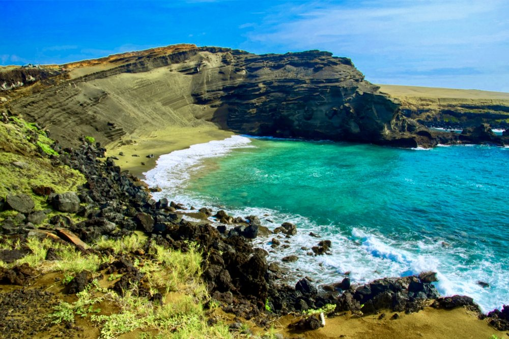 Beautiful Papakolea Green Sand Beach just a short hike away!