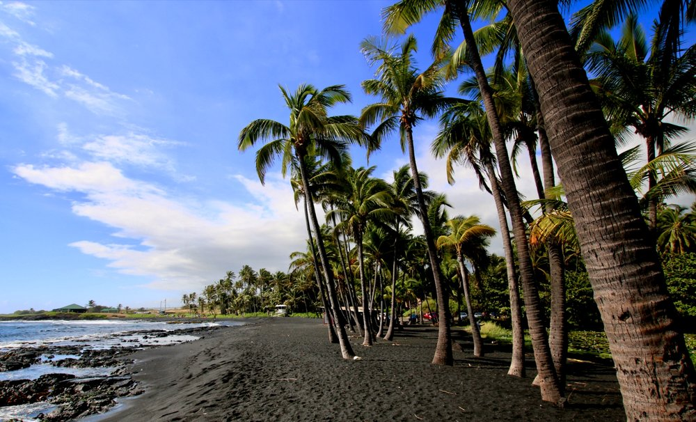 Beautiful Punalu'u Black Sand Beach