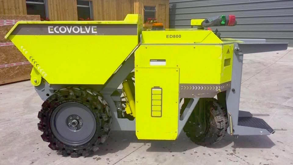 ECOVOLVE ED800 Electric Dump Cart Side View