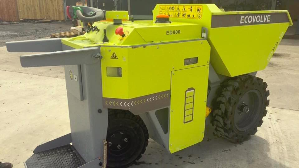 ECOVOLVE ED800 ELECTRIC DUMP CART Angled Side View