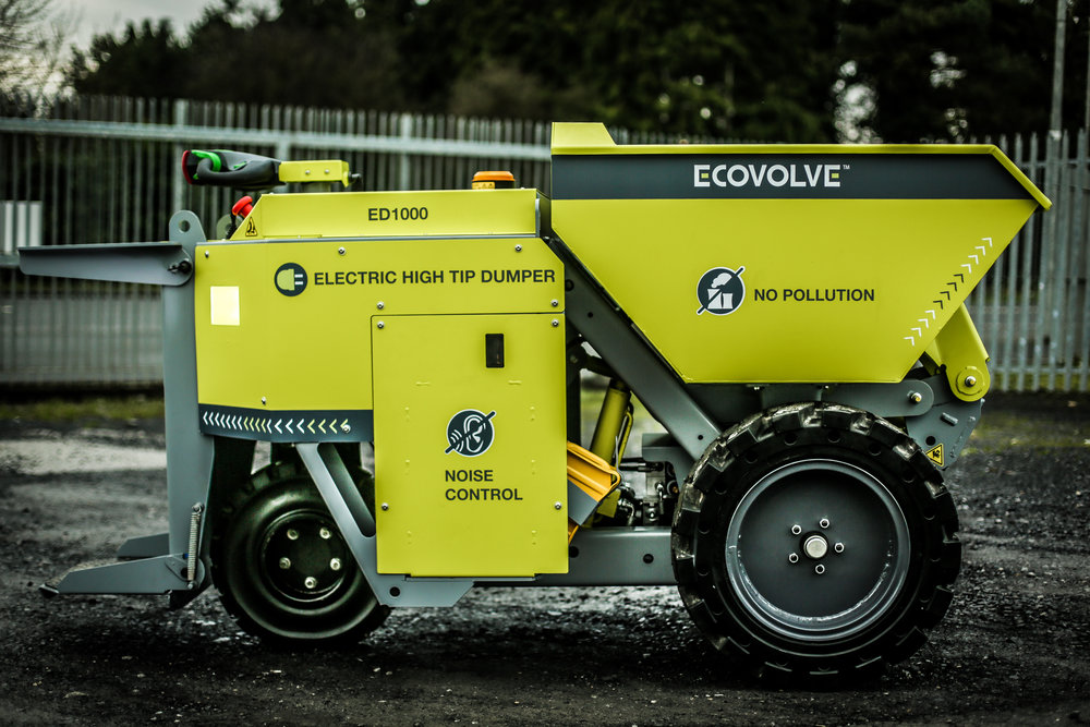 ECOVOLVE ED1000 ELECTRIC DUMP CART Side View