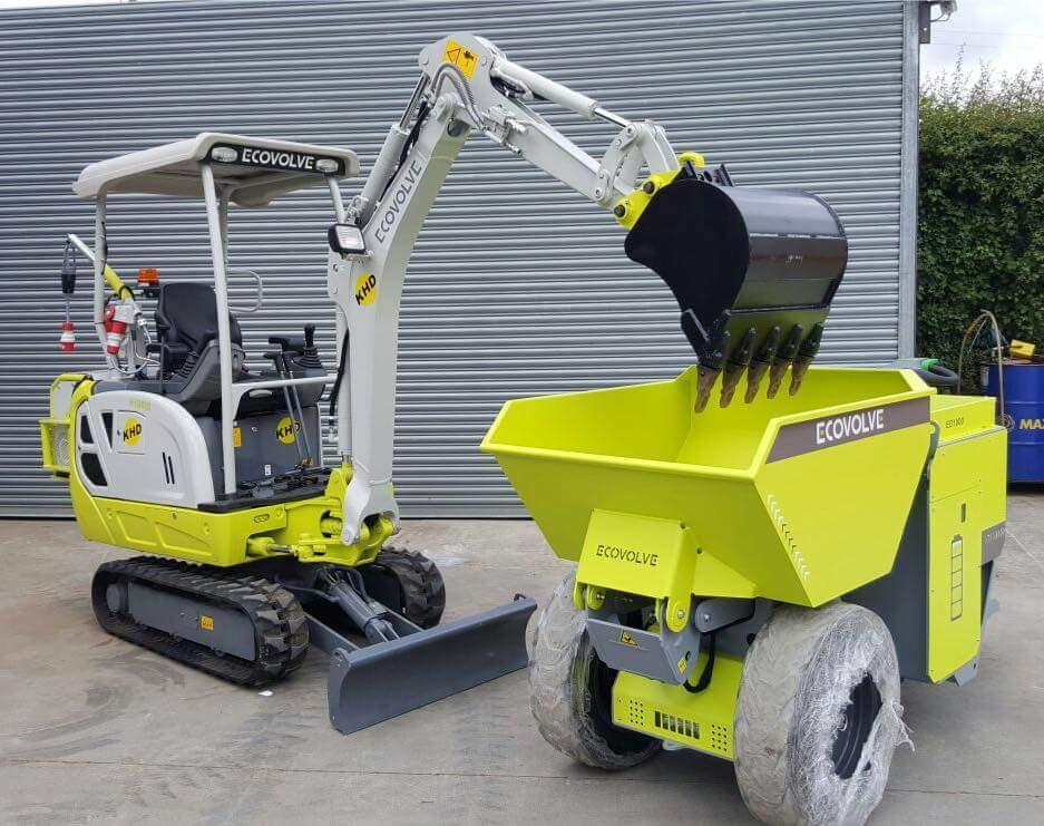 Ecovolve Electric dump cart & excavator