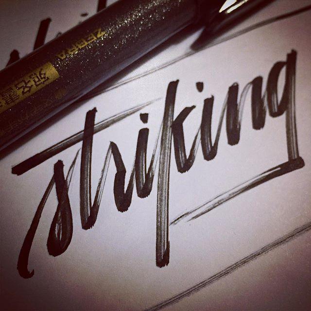 Doodling with a #zebrapen  #brushlettering #leftycalligraphy #calligraphynewbie #calligraphy