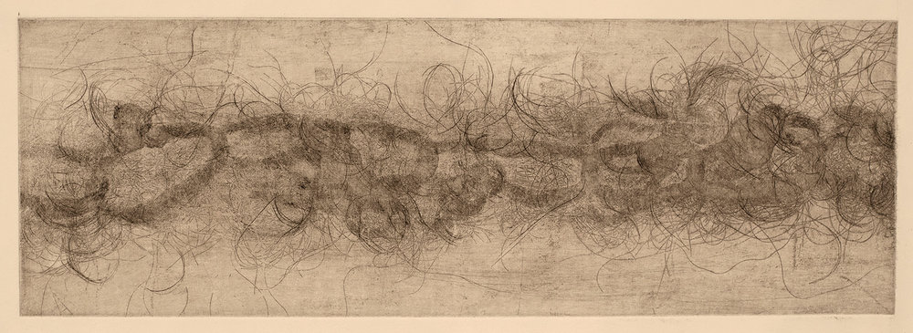 Bound I , 2016, soft ground etching, 23 x 53 cm