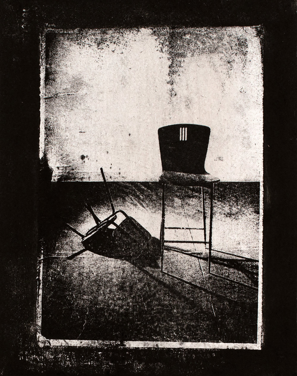 Chairs IV , 2016, paper lithograph on Fabriano Artistico 300 gsm, 42 x 29.7 cm