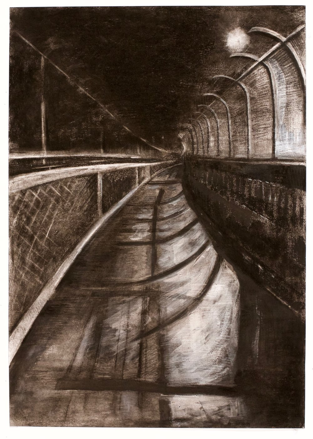 collected space V , 2015, charcoal, goache and conte crayon, 59.4 x 42 cm