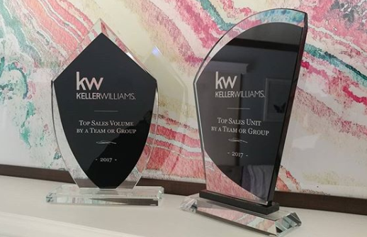 KW Top Sales Volume & Top Sales Unit by a Team 2017