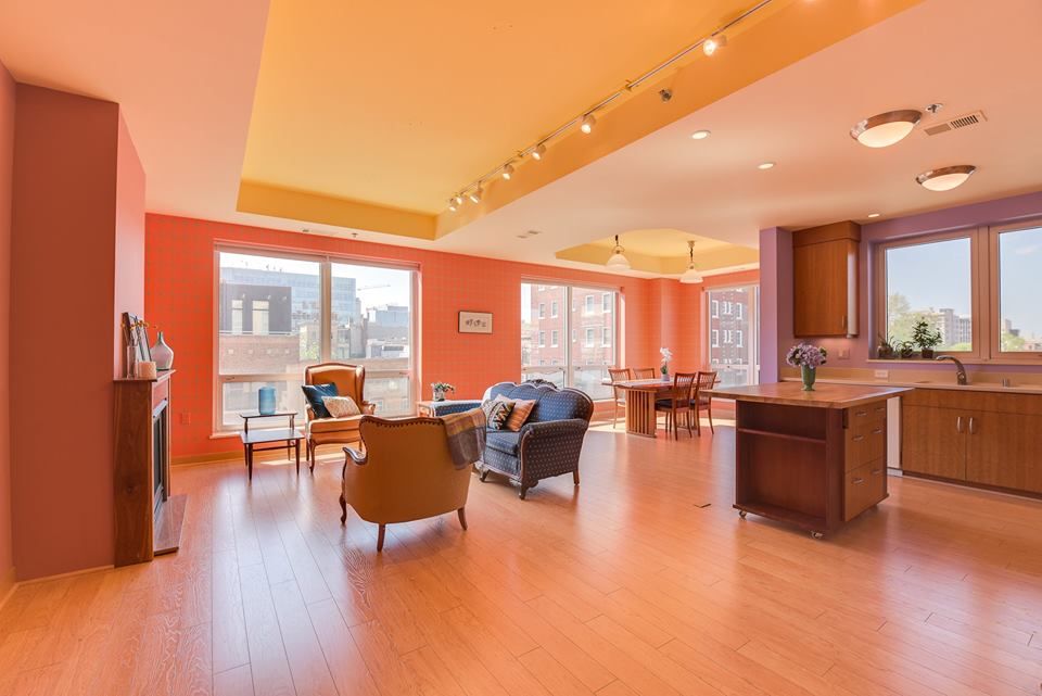 Interior of our 125 N. Hamilton St. condo listing