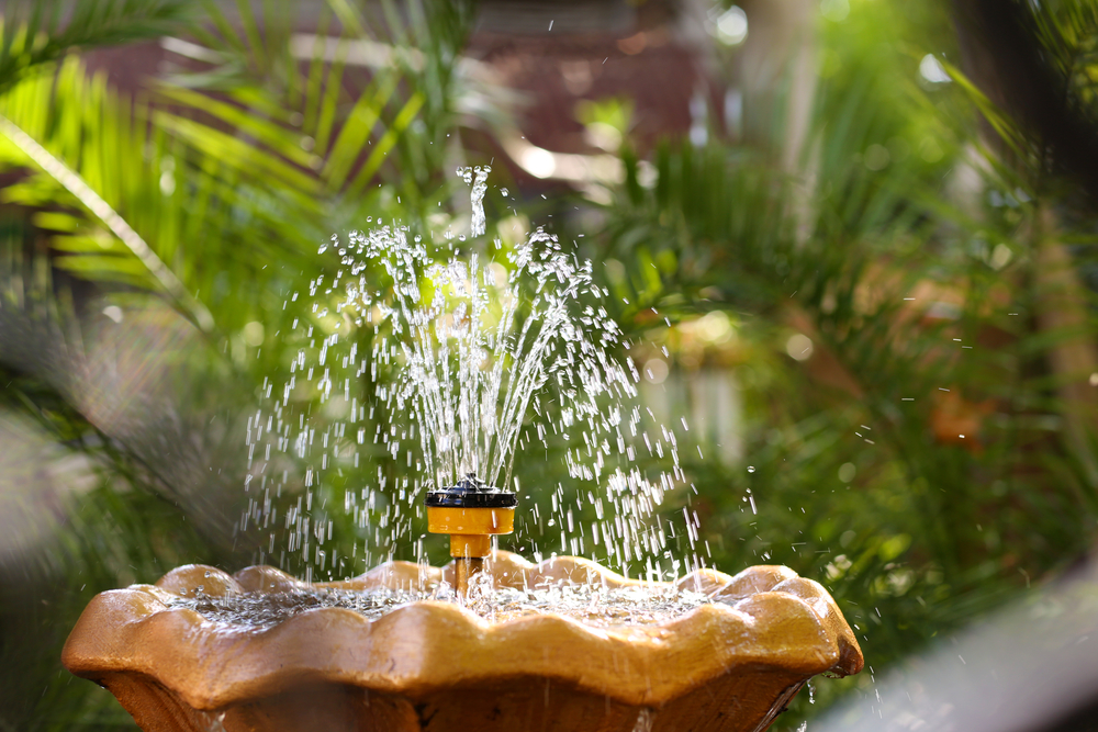 A small water fountain can become a big feature of your patio or garden