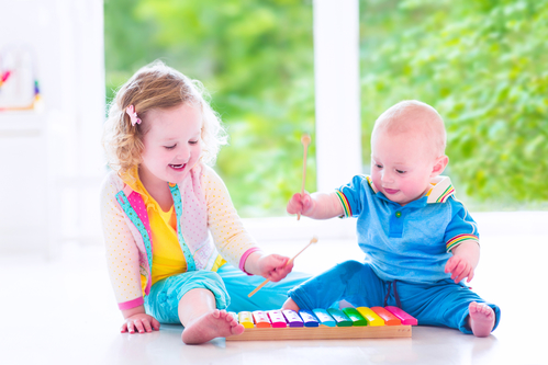 Baby and toddler music class