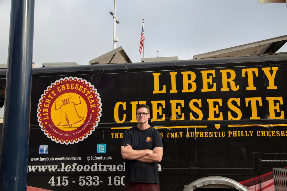 Liberty Cheesesteak is owned and operated by Andrew Tully. Andrew was born in New York City and grew up in New Jersey. As a long time resident of San Francisco, Andrew was often missing the great food of the east coast that he grew up on. In 2015, he started Liberty Cheesesteak to help fill that void! The mission is simple. Serve the best and most authentic cheesesteak in the Bay Area with the best customer service. When you come to Liberty Cheesesteak, you won't find a lot of gimmicks or cute names for menu items. What you will find is a perfectly seasoned cheesesteak that will have you coming back again and again.