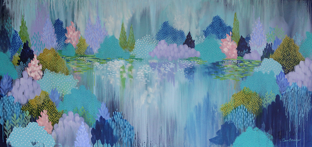 Still Water, 2mx1m Acrylic on Canvas, Clair Bremner