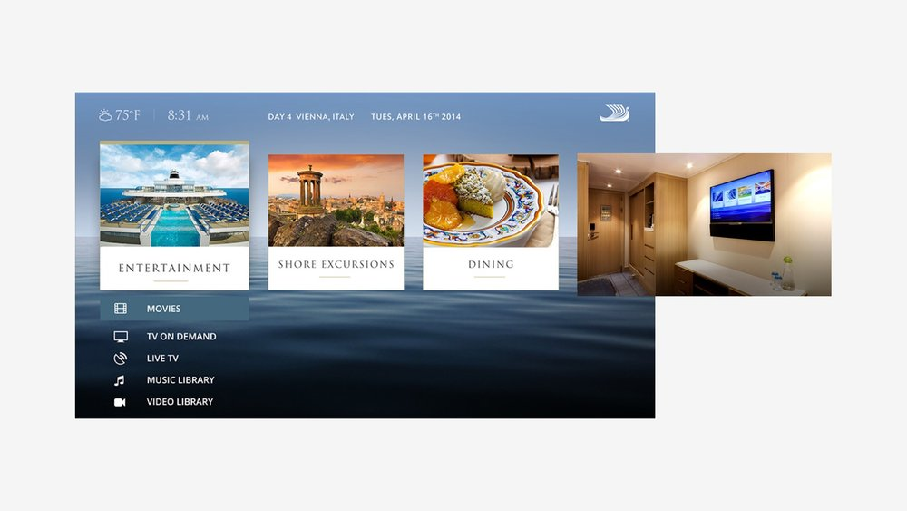 Viking Cruises: Ship Onboard TV System Design