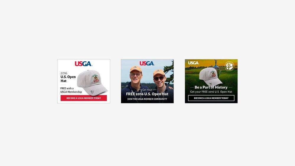 USGA: 2016 Membership Hat Campaign Banners