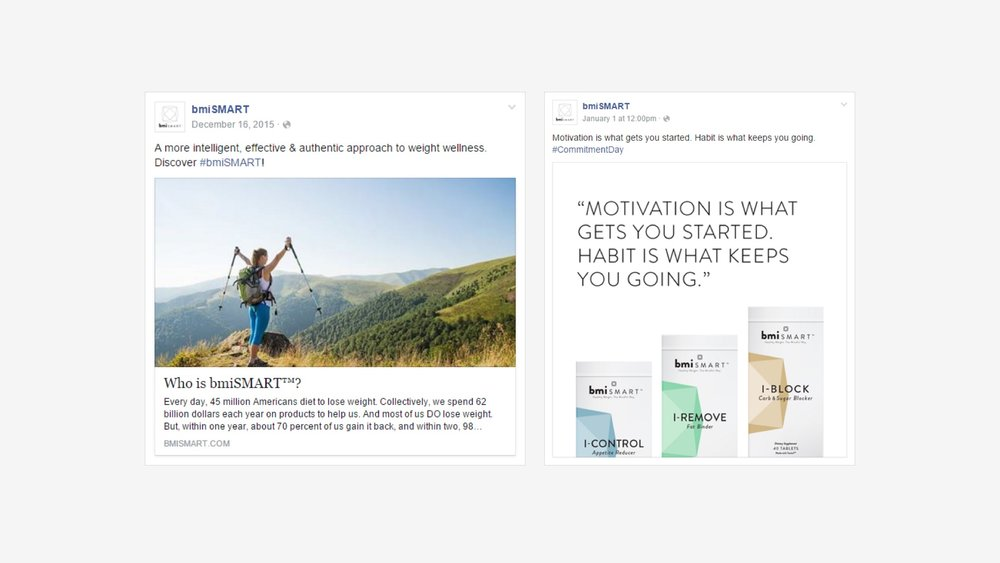 bmiSMART: Facebook Content Curation Examples